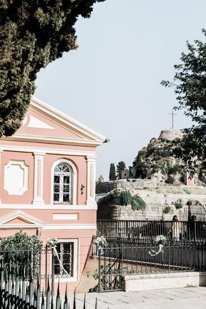 The church Madrakina Corfu.